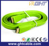 Green High Quality Flat HDMI Cable (F016)