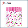 Dots & Vertical Stripes Art Paper Cheap Shopping Gift Paper Handbags