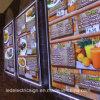 Advertising Product Aluminium Alloy Frame LED Light Box for Restaurant
