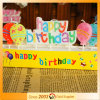 Happy Birthday Balloon Print Candle