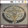 Round Beige&Yellow Marble Stone Water Jet Medallion for Flooring Pattern Design