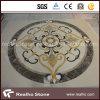 Round Beige&Yellow Marble Stone Water Jet Medallion for Flooring Pattern Design