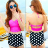 Sexy Women′s Bikini Set Retro High Waisted Swimsuits (14344-5)