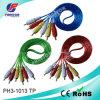 3RCA-3RCA Transparent Audio Video Cable