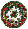 Round Christmas Gift Plastc Plate Dinner Ware