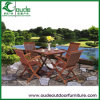 Solid Wood Wooden Outdoor Garden Table with Chairs (YG-T613 YG-C607)
