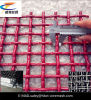 Red 65mn Crimped Metal Mesh