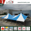 Luxury Custom Made Aluminum Frame High Peak Tent with Blue and White Color for Events