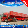 Customizable Side Tipping Dump Semi Trailer Used to Efficiently Transport Sands, Small Stones, and Other Building