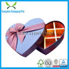 Custom Empty Heart Shaped Chocolate Box with Ribbon