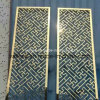 Stainless Steel Screen with Gold Colar