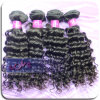 Natural Color Peruvian Deep Wave Virgin Remy Human Hair Weft