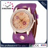 Alloy Case Genuine Leather Fashion Wristwatch for Ladies