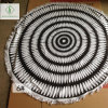 [Stock] Wholesale Qualified Microfiber Printed Round Beach Towel with Tassel