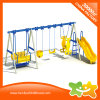 Clean Sense Style Outdoor Amusement Equipment Slide and Swings for Sale