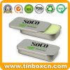 Cosmetic Sliding Tin Box for Lip Balms Slide Metal Can