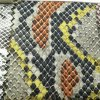Print Snake Design PU Leather Polyester Fabric for Jacket