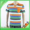 2016 Strips 100% Cotton Men T Shirt Manufacturer