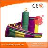Amusement Park PVC Tarpaulin Rocket Curve Slide T4-440
