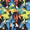 Flower Printed Digital Print Silk Fabric for Girl Dress (XF-0038)