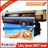 High Quality Funsunjet Fs-3202g 3.2m/10FT Outdoor Wide Format Printer with Two Dx5 Heads 1440dpi for Flex Banners Printing