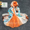 New Large Size Printed Beach Shawl Lady Fashion Chiffon Silk Scarf