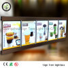 Aluminum Frame Mount Slim LED Illuminated Restaurant Menu Light Box