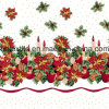 High Quality 30sx30s 100% Cotton Golden Floral Foil Print Fabric and Textile