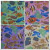 600d Oxford Fish Printing Polyester Fabric with PVC
