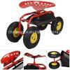 Rolling Garden Cart Workshop Seat Heavy Duty Tool