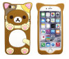 Cartoon Lovers Rilakkuma Button Silicone Phone Case for Samsung Galaxy J5 J7 P8 P9 (XSDW-001)