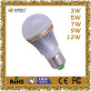 High Quality 2 Years Warranty Aluminum E27-A60-7W LED Light Bulb with CE/RoHS