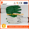 Ddsafety 2017 Bleach Cotton or Polyester Liner Green Rubber Coated on Palm