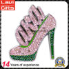 Hot Selling Custom Metal Type Shoe Lapel Pin with Crystal