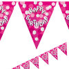 Large Size Full Color PVC Flags Bunting for Birthday Decoration