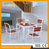 Outdoor Leisure Ways Patio Furniture Sitting Room Plastic Wood Aluminum Alloy Table and Chair