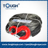 Synthetic UHMWPE Winch Rope with Hook, Thimble, One Meter Protective Sleeve as Full Set for Electric Winch (winch rope)