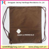 210d Cool Brown Polyester Nylon Drawstring Bag Backpack (D-705)
