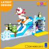 New Design Kindergarten Inflatable Jumper Toy Polar Bear Slide Winter Inflatable Penguin Park (AQ01751)
