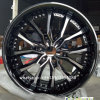 20*9j Black Chrome Rims 6*139.7 Aluminum Rims Alloy Wheel Rims
