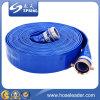 Blue Standard-Duty PVC Lay-Flat Discharge Hose