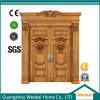Front Solid Wood Entry Double Door for Houses