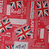 Union-Jack Part Printed PVC Synthetic Leather for Netbar Sofa Chair
