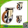 Heavy Duty Yellow Bracket PU Caster Wheels
