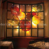 Red and Yellow Murano Glass Craft Plate for Wall Decoration