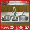 Stainless Steel Under Mount Triple Bowl Kitchen Sink with Cupc Approved