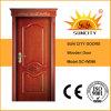 Classical Luxury Interior Single Teak Oak Wooden Door Design (SC-W086)