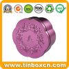 Cosmetic Tin Box with Embossing, Metal Gift Tin Container