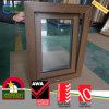 PVC Wooden Color Double Glazed Tilt and Turn Window Australian
