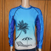 Beach Theme Rash Guard/Compression Shirt
